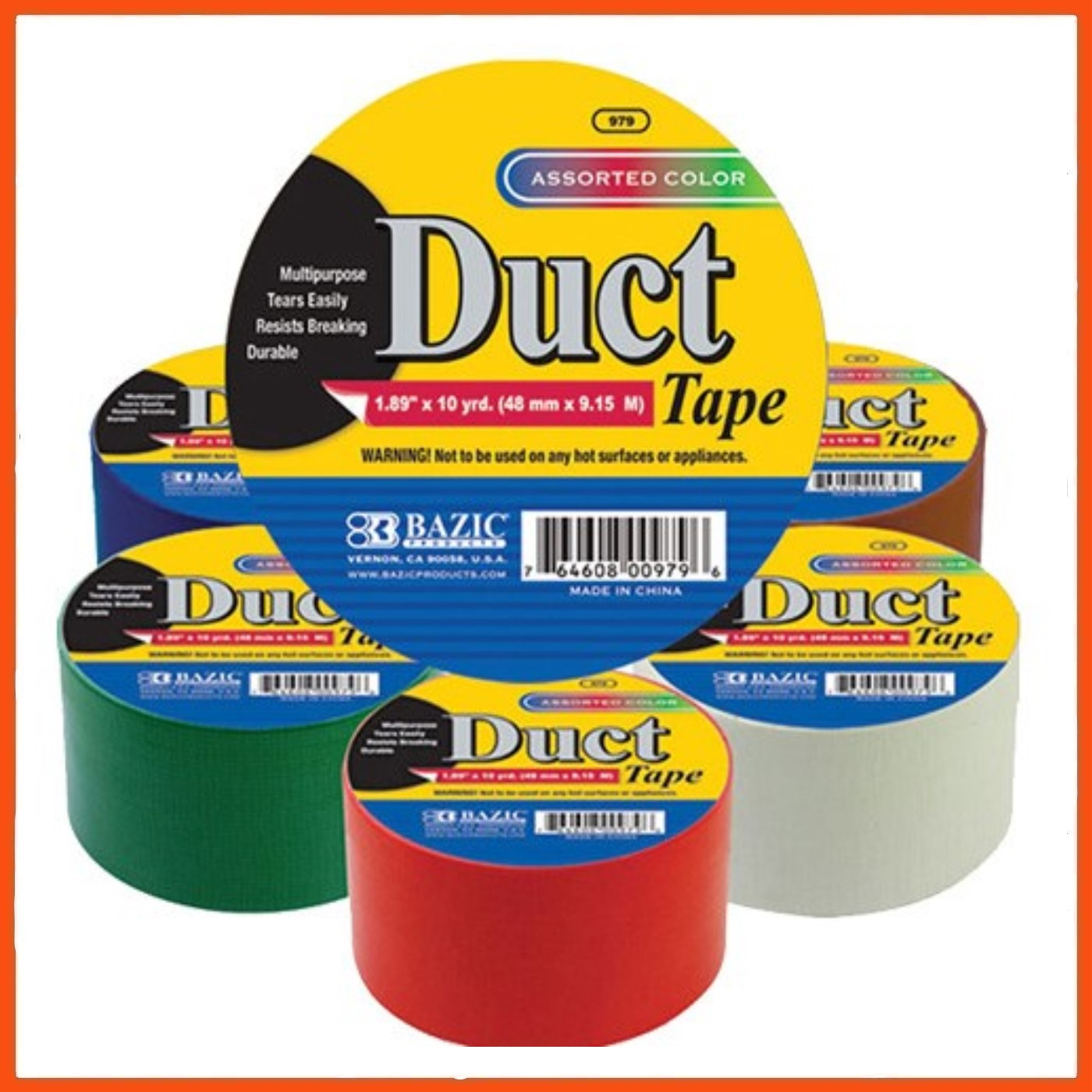 36 X Duct Tape Assorted Colours 9 Mt X 48 Mm Strong Seal
