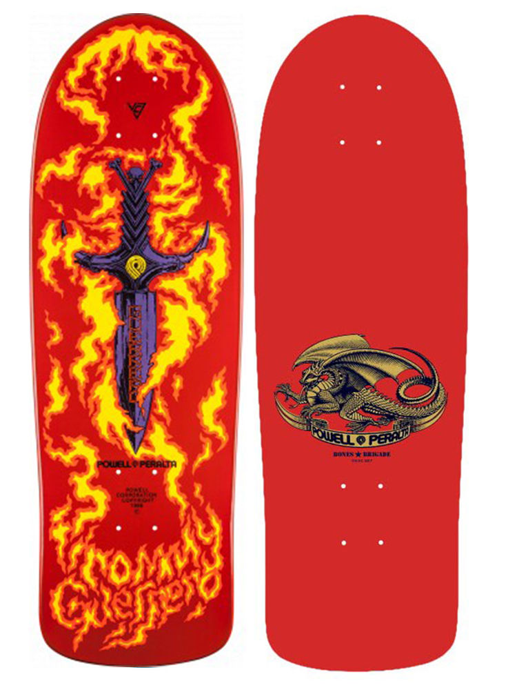 Powell Peralta Skateboard Deck Tommy Guerrero Dagger 9th Reissue Bones Brigade Red 9.75 FREE POST