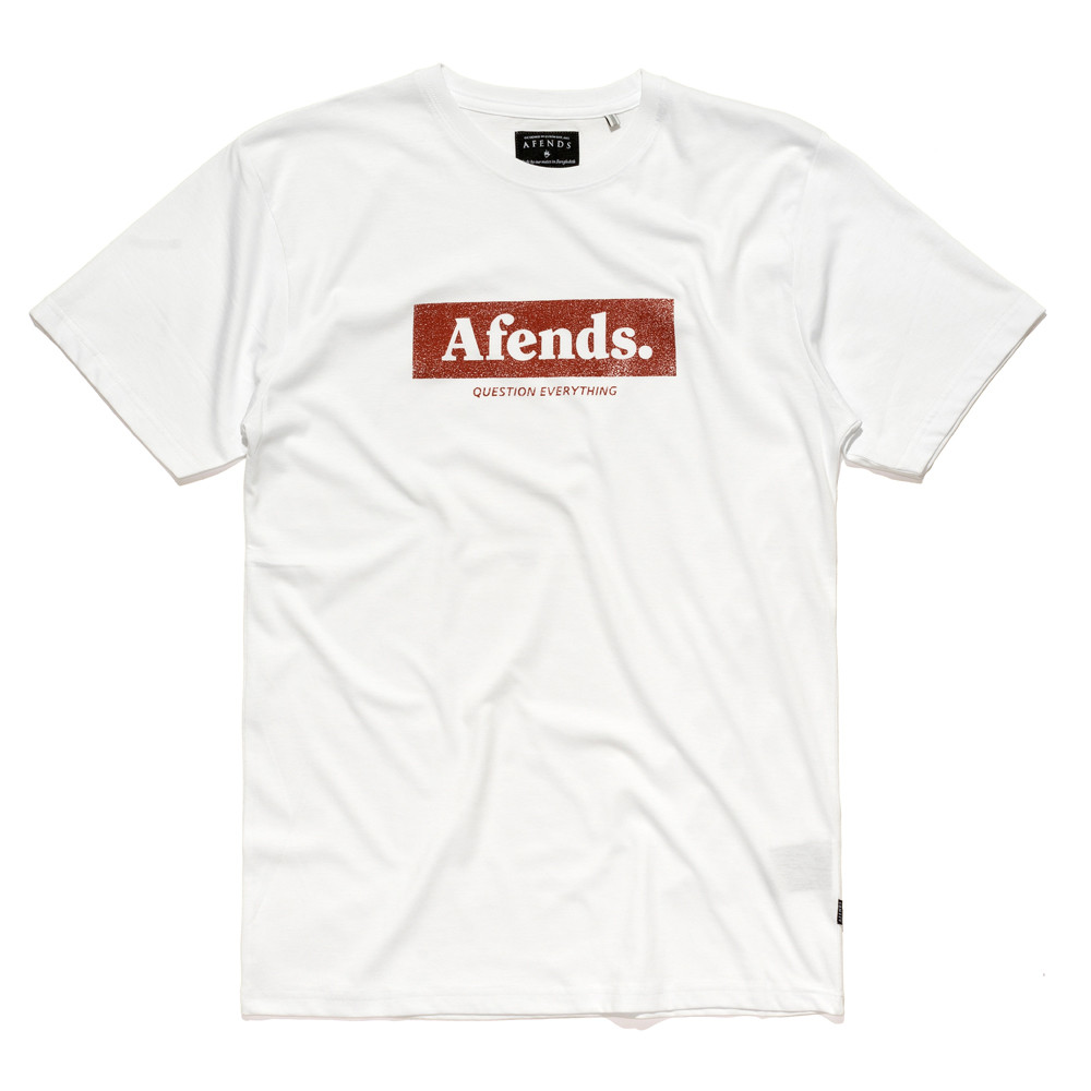 Afends Tee Stone White T-shirt skateboard surf Bmx Top