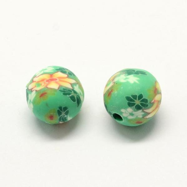 9 Designs Or Assorted. Flower Polymer Clay Fimo Beads x50 1mm Hole 10mm