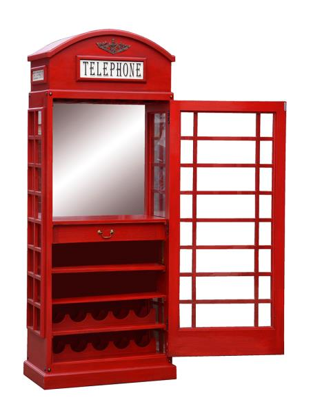 Telephone Box Drinks Cabinet In Pillar Post Red Ebay