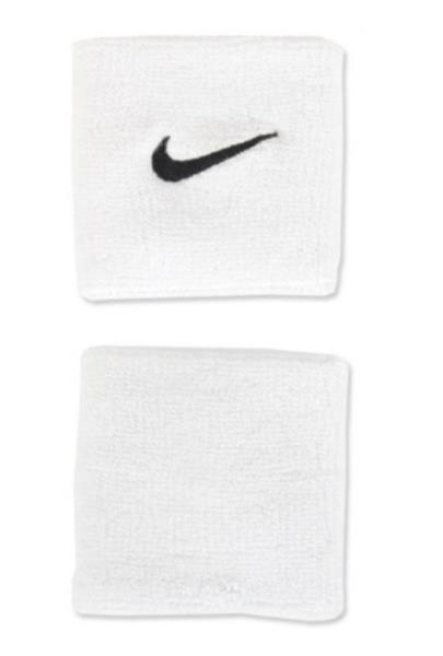 Nike swoosh double wrist band run basketball white 2pcs wristband nike jersey feature lightweight strategically placed mesh enhances airflow for optimal comfort and breathability maxwellsz