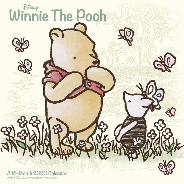 Calendario 2020 16.Details About Walt Disney Winnie The Pooh Art 16 Month 2020 Wall Calendar With Download Sealed