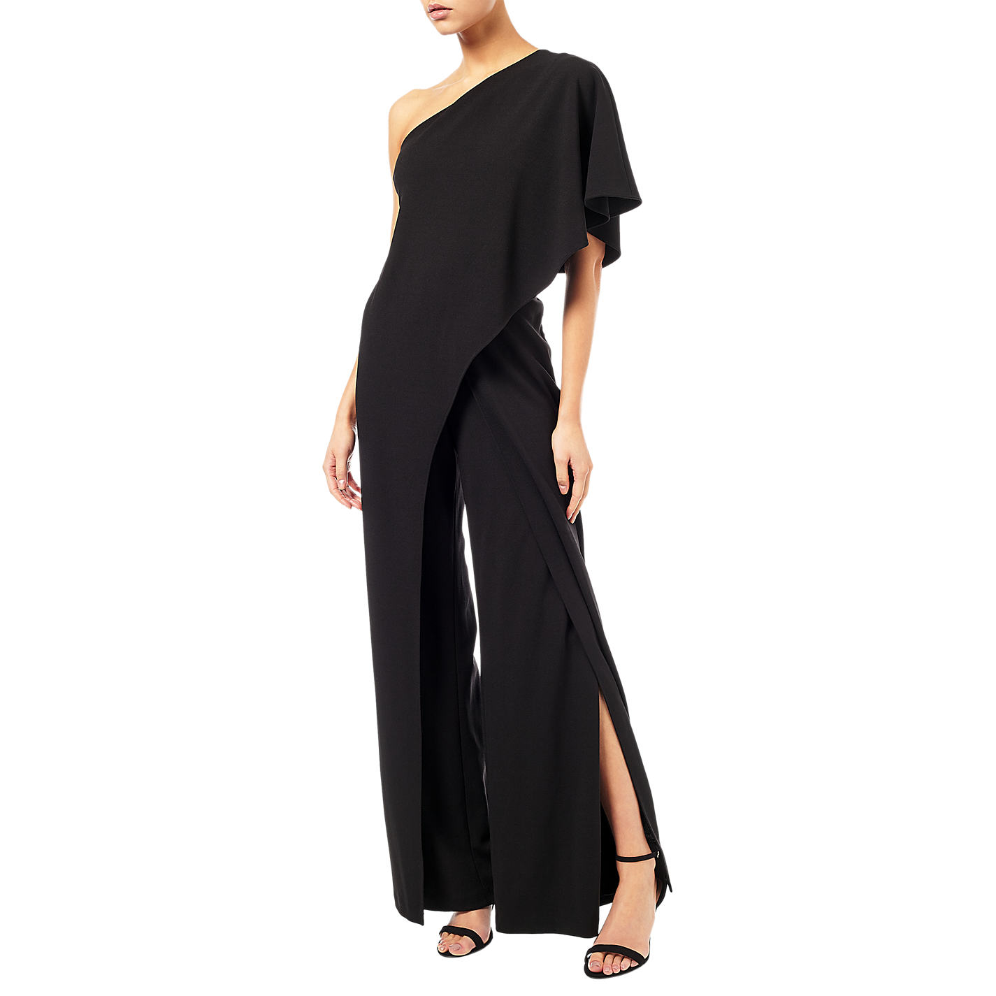 2c444cbb8809 Adrianna Papell One Shoulder Jumpsuit Sz 18W Mrsp  199 Black ...