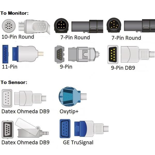 Details about Cables and Sensors Datex Ohmeda SpO2 Adapter Cable
