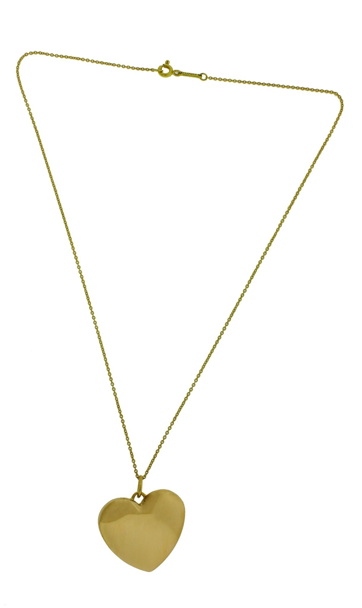 c5d4a49f3 Details about Tiffany & Co heart shape locket necklace in 18k yellow gold