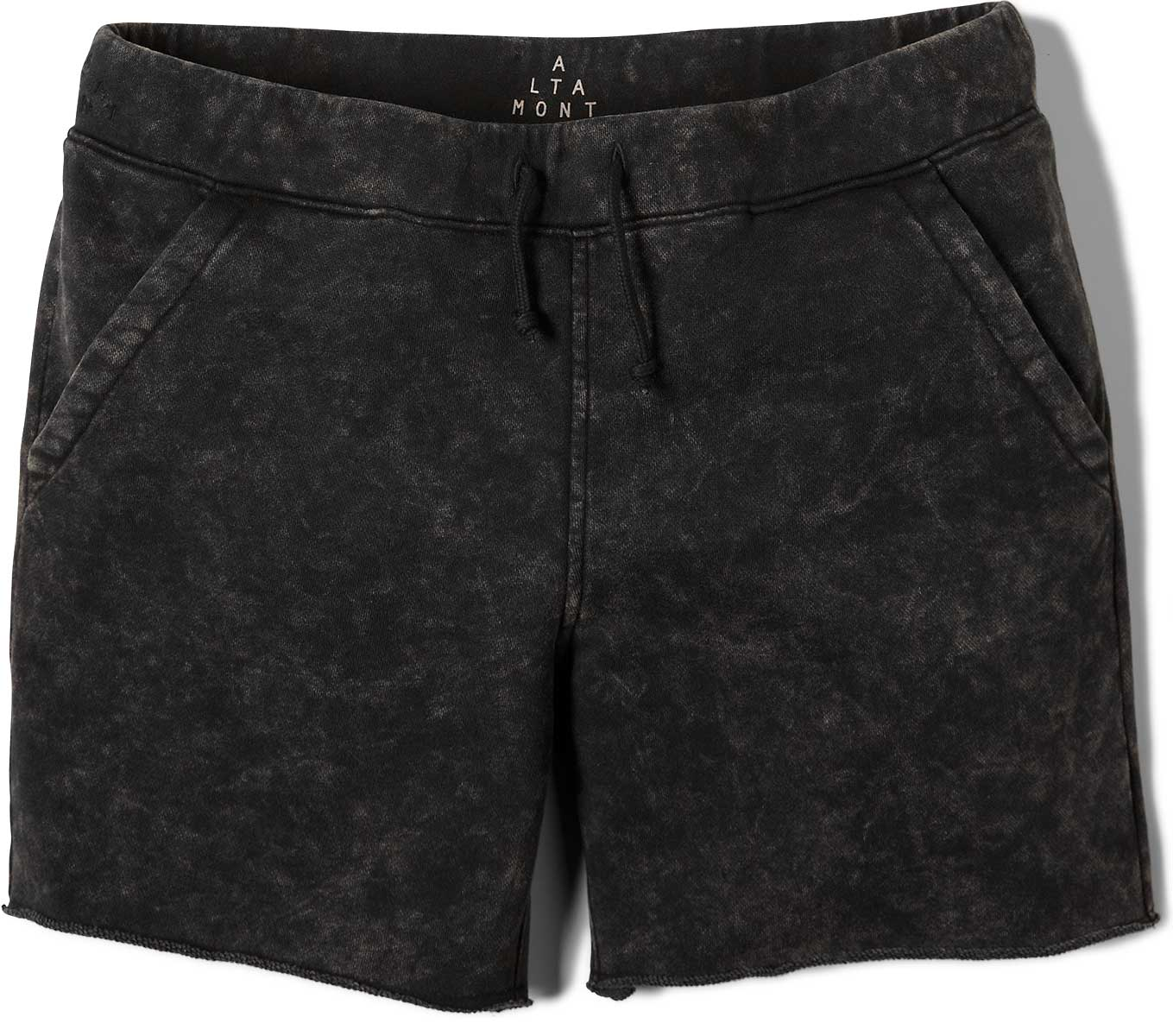 Altamont Shorts Vamo Fleece Black Grey Wash Skateboard Short By Andrew Reynolds