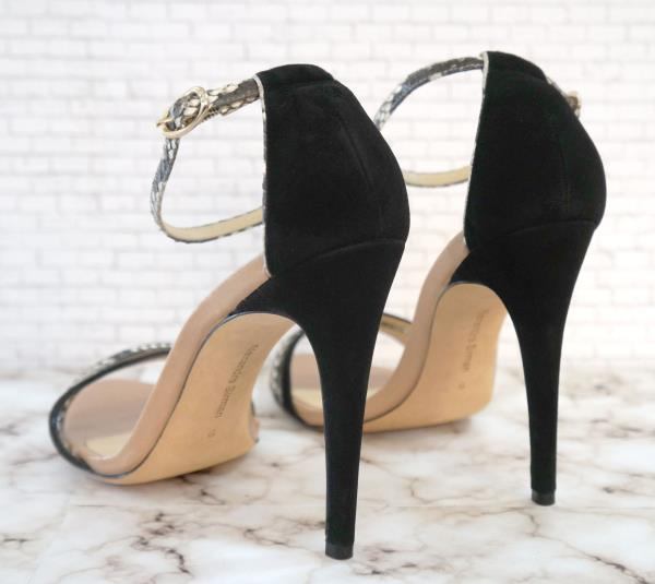 852fece69bf2 ALEXANDRE BIRMAN 9 Beige and Black Suede and Snakeskin Strappy Sandals  Heels. ALEXANDRE BIRMAN ANKLE STRAP SANDALS