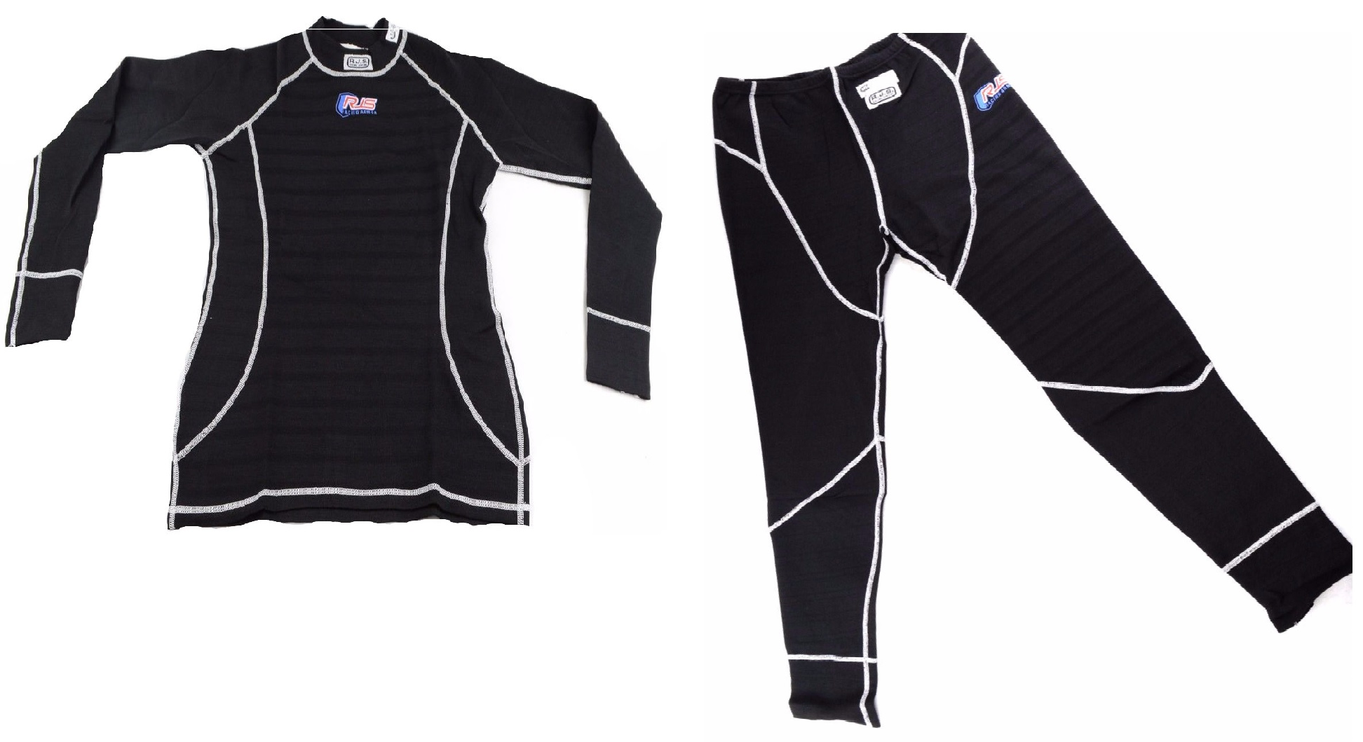 RACING UNDERWEAR SFI 3.3 APPROVED UNDERGARMENT RJS 2 PC TOP /& BOTTOM WHITE LARGE