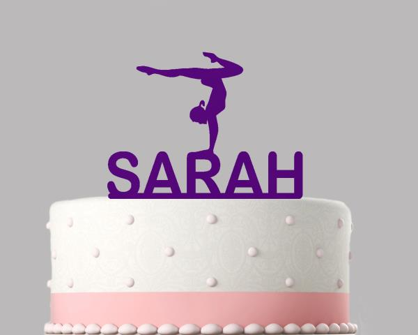 CUSTOM MADE  personalised Cake Topper Birthday gymnastic FIGURE any name any age