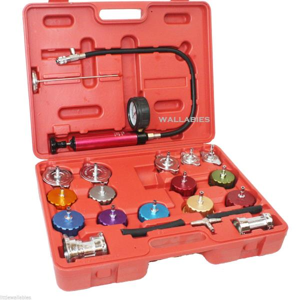 Auto Cooling System Radiator Color Cap Pressure Tester Kit