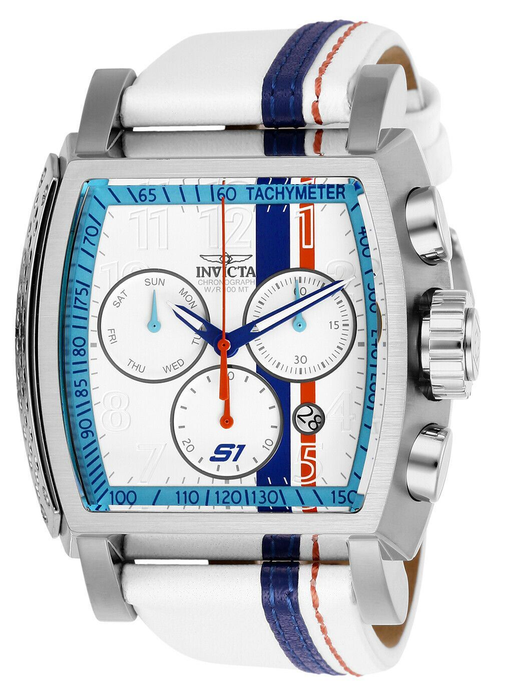 0c400d775 Details about Invicta S1 Rally Race Team 26394 White Leather Swiss  Chronograph Watch Z60