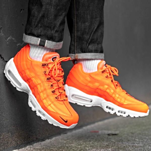 online store 91ede 68741 Nike Air Max 95 Premium Orange Size 7 8 9 10 11 12 Mens Shoes Jordan 538416- 801