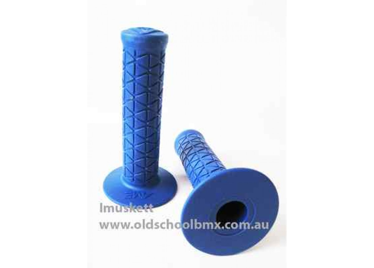 AME old school BMX Tri bicycle grips BLUE *MADE IN USA*