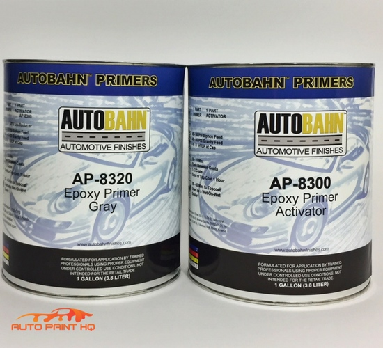 Details about Epoxy Primer Surfacer DTM Gallon Kit Car Vehicle Auto Gray,  Black, White, or Red