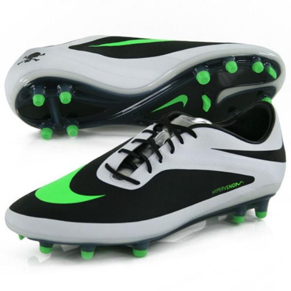best cheap adba3 0ed3c NIKE Hypervenom Phatal FG Black White Lime Green Soccer ...