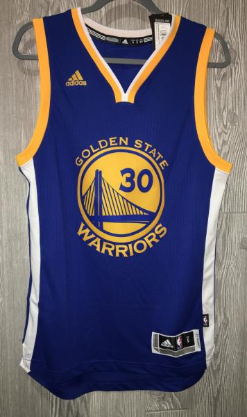 7150f9ac121 ADIDAS Warriors Steph Curry #30 Swingman Twill Basketball Jersey NEW ...
