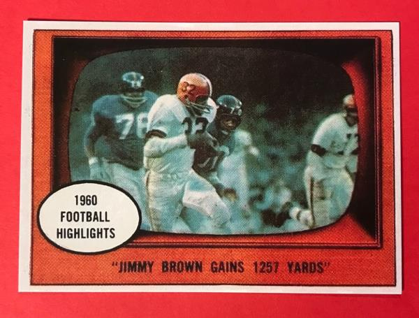 Jim Brown Highlights >> Details About Jim Brown 1961 Topps Highlights 77 Reprint Football Card Cleveland Browns