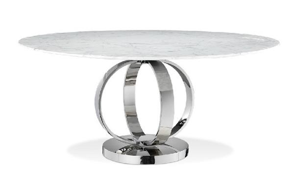 Dining Table Cerchio Modern Round White Volakas Marble Dining Table Ebay