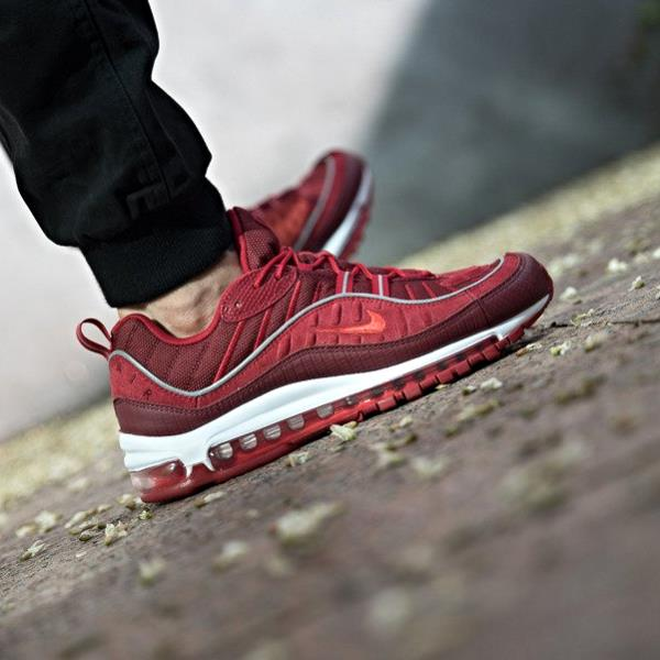 Nike Air Max 98 SE Sneakers Team Red Size 7 8 9 10 11 12 Mens Shoes New.  100% AUTHENTIC OR MONEY BACK GUARANTEED 4f619acc1