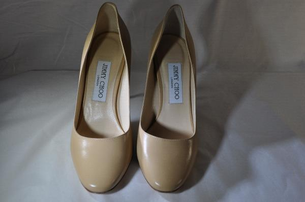 b58bf5e66e19 JIMMY CHOO - Esme 100 Kid Nude Leather Round Toe Pumps 38 8 (3613)  695.  HAVE BEEN TRIED ON BUT NEVER WORN.
