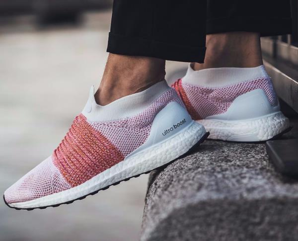 710bf751fb36e ADIDAS ULTRA BOOST LACELESS WHITE RED PK PRIMEKNIT SIZE 7-12 NMD SHIPS NOW