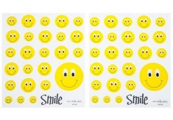 Emoji Smile Face Stickers Holographic Planner Stickers