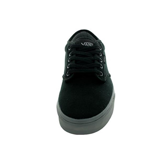 leather vans black atwood