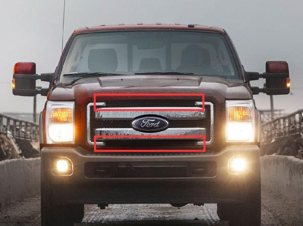 150w 30 led light bar wbehind grille mount bracket wiring for 11 give your ford super duty truck a rugged off road look no matter day and night with superior lighting performance aloadofball Images