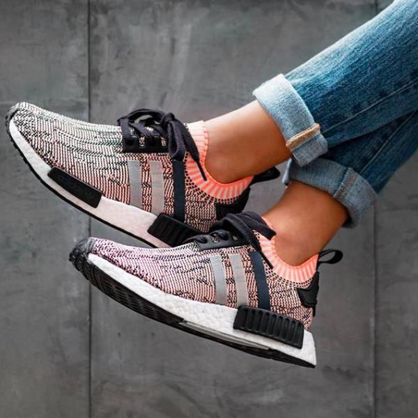 adidas nmd r1 color static on foot 5