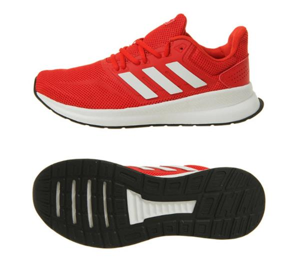 Details about Adidas Men Run Falcon M Shoes Running Red White Sneakers Boot GYM Shoe F36202