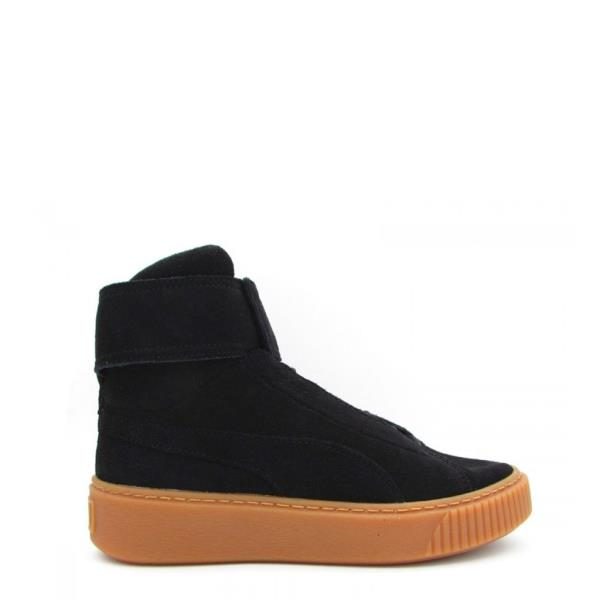 e4dc9af7107b85 Puma Women Sneakers Lace Up Black Suede High Top Trainers Shoes US ...