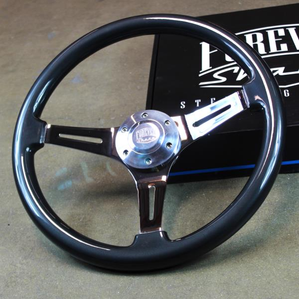 "15/"" Grey Chrome Steering Wheel 3 Spoke"
