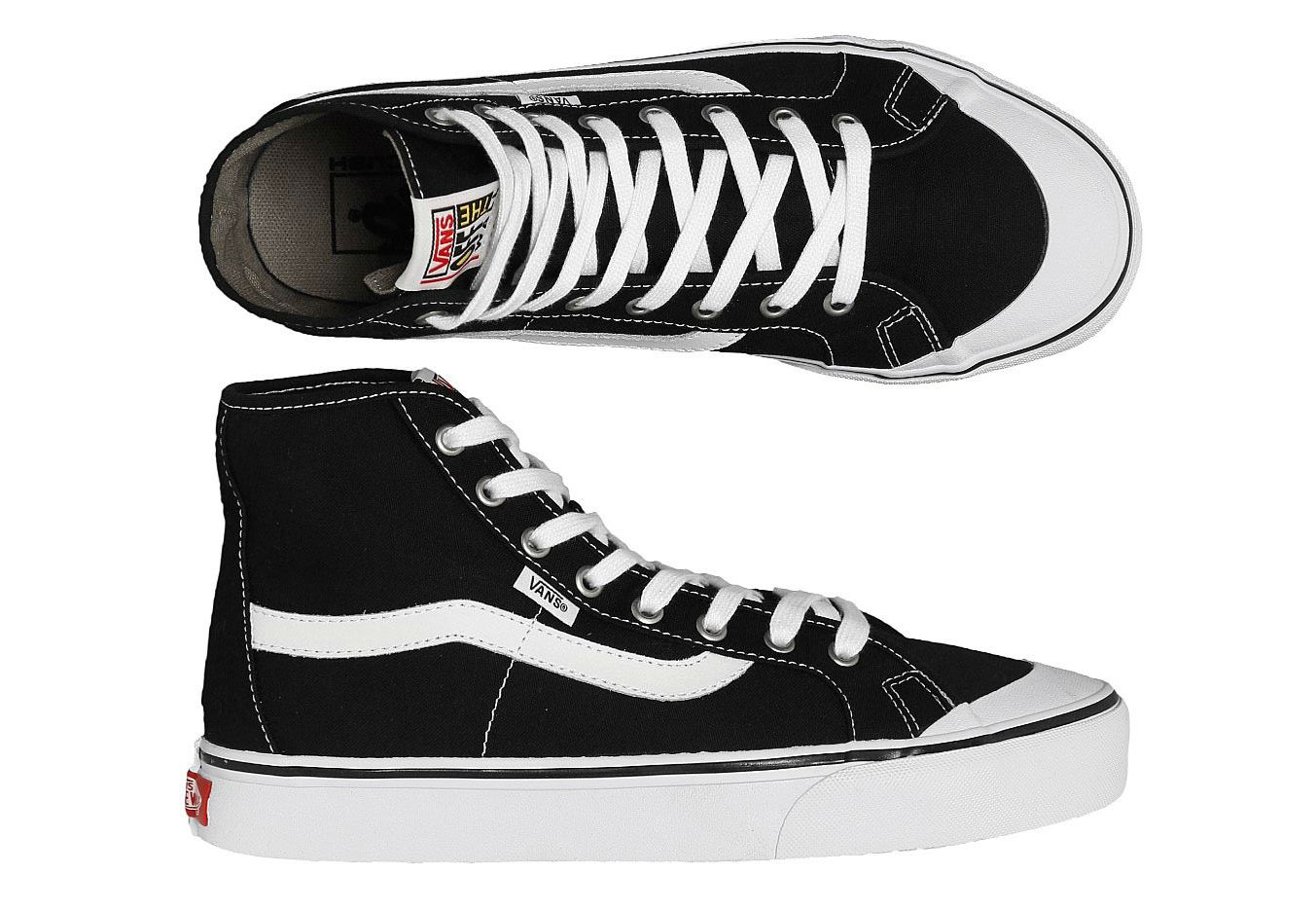 Vans Shoes Black Ball Hi SF Black White Wade Goodall Skateboard Sneakers New FREE POST