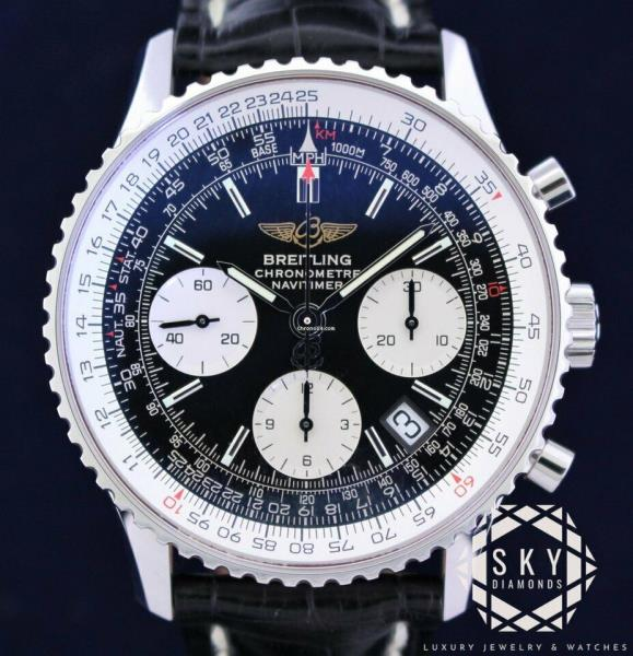5849805814f4 Breitling Navitimer Stainless Steel Automatic Men s Watch A23322 ...