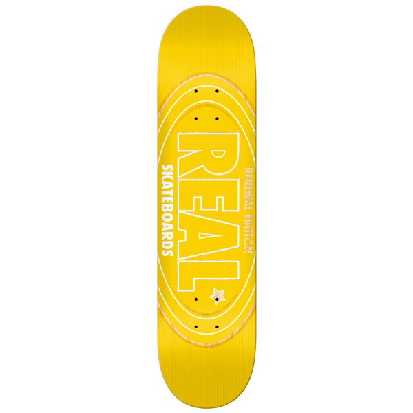 Real Skateboard Deck Renewal Oval 8 FREE POST FREE GRIP