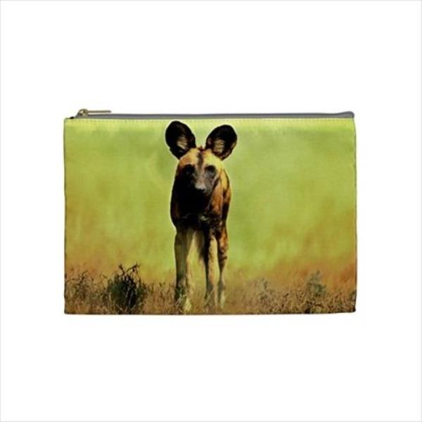 68f16fb2fd8d Details about African Wild Dog Cosmetic Bag & Handbag Mirror - Canine