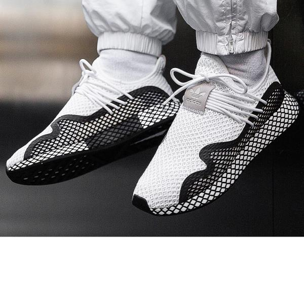 the latest 7aed7 05105 Details about Adidas Deerupt S White Black Size 8 9 10 11 12 Mens Shoes  BD7874 NMD Ultra Boost
