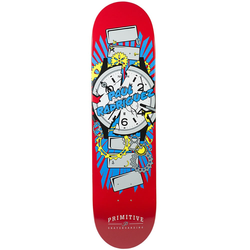 Primitive Skateboard Deck P-Rod 8.25 Times Up Nixon Collab Red Rodriguez FREE GRIP and FREE POST prod