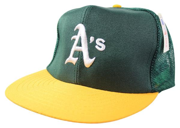 NEW VTG 90s OAKLAND ATHLETICS A s Snapback CAP Mesh Trucker HAT ... 959002fcb42