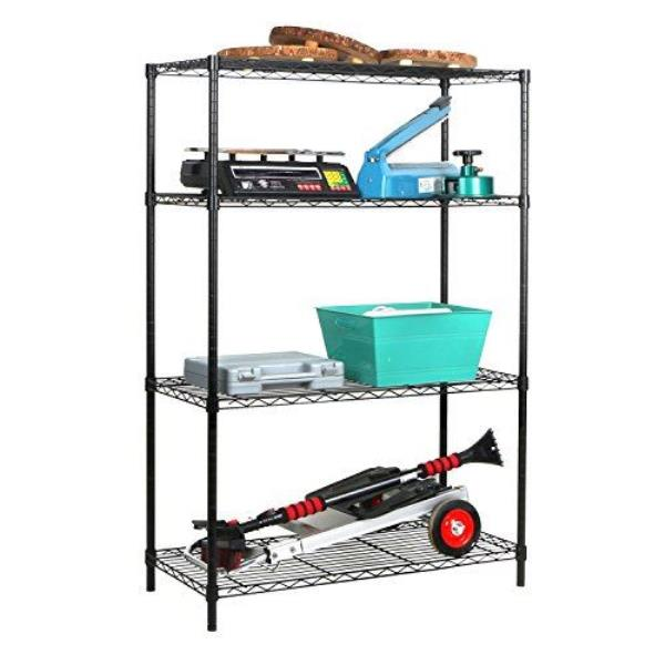 Tidy Living - 4 Tier Wire Shelf Shelving Heavy Duty Storage ...