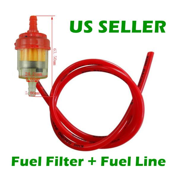 Details about Red Fuel Line+ Fuel Filter 50 70 90 110 150 250CC ATV on