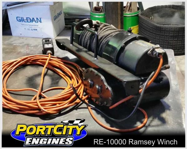 Details about Ramsey Front Mount Electric Winch 10000 pounds 4530 kgs on