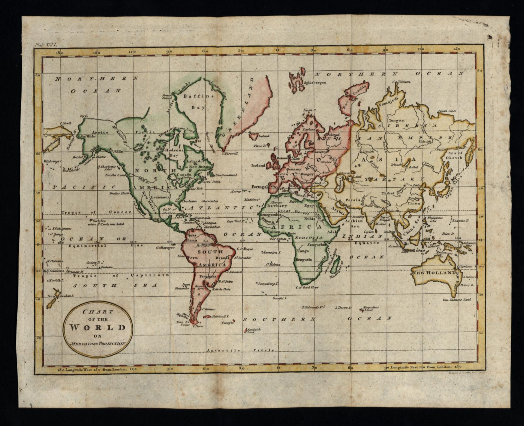 Australia Map In R.World Map Naming River Of West 1796 Charming Map Tasmania Attached