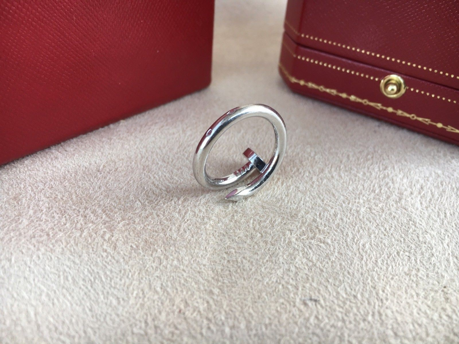 5af37920b65ae Details about Cartier Juste Un Clou Ring White Gold Size 51 (US 5.75)