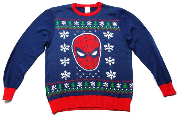 SPIDERMAN Ugly Christmas Knit Sweater (XL) NEW! Marvel XL knitted ...
