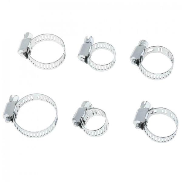 12PCS Assorted Hose Clamps Set Jubilee Clips Steel Pipe Clamps Clip