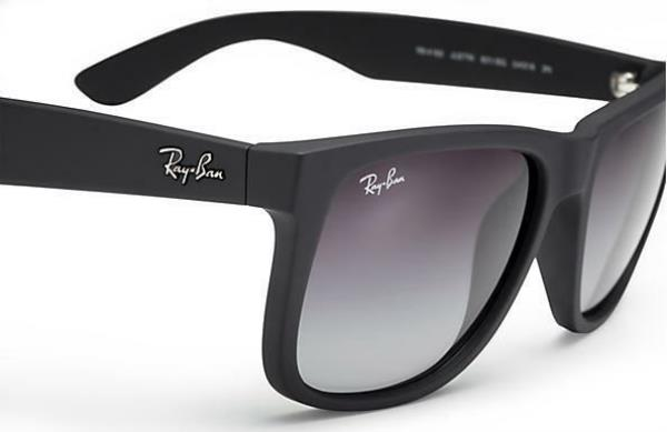 d7d5f42596 Details about RayBan RB4165 54mm Justin New Wayfarer Sunglasses (Rubber  Black Gray Gradient)