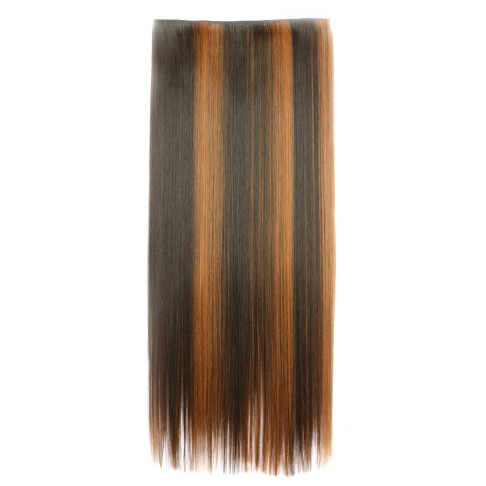 28inch 70cm Extra Long Fishing Line Straight 5 Clips In Blonde Hair