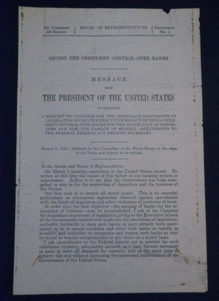 EXECUTIVE ORDERS REPORT OOMMITThat NATIONAL Since March 9 1933 the ...